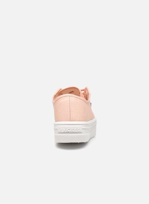 Sneakers Victoria BARCELONA LONA Beige immagine destra