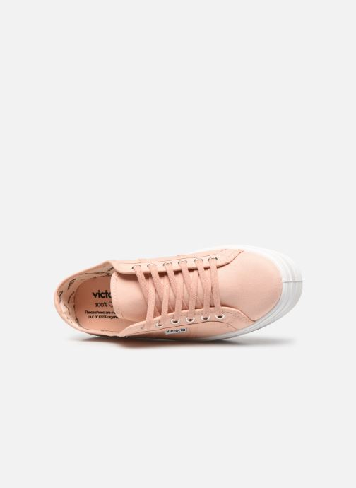 Sneakers Victoria BARCELONA LONA Beige immagine sinistra