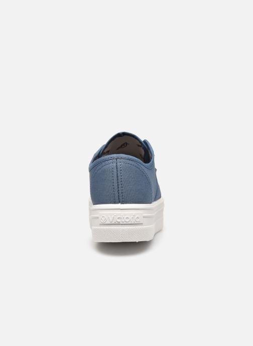 Sneakers Victoria BARCELONA LONA Azzurro immagine destra