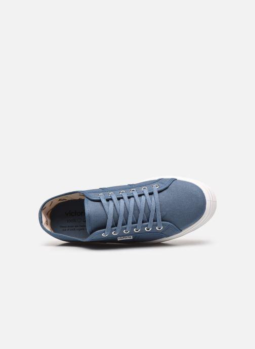 Sneakers Victoria BARCELONA LONA Azzurro immagine sinistra