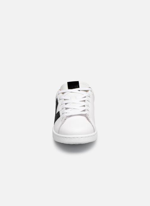 Baskets Victoria TENIS PIEL GLITTER Blanc vue portées chaussures