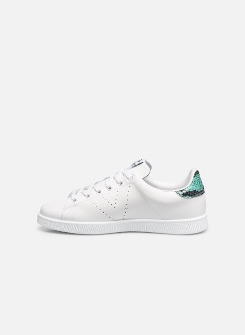 Sneakers Victoria TENIS PIEL PERRILLO SERPIE Bianco immagine frontale