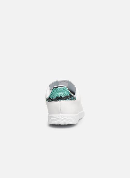 Sneakers Victoria TENIS PIEL PERRILLO SERPIE Bianco immagine destra