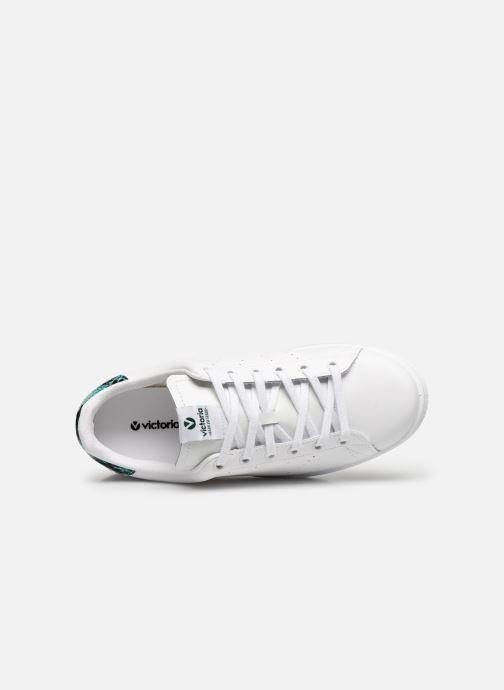 Sneakers Victoria TENIS PIEL PERRILLO SERPIE Bianco immagine sinistra