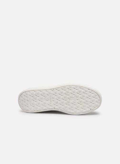 Sneakers Victoria UTOPÍA RELIEVE PIEL Bianco immagine dall'alto