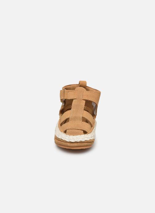 Pantofole Boumy Milan Beige modello indossato