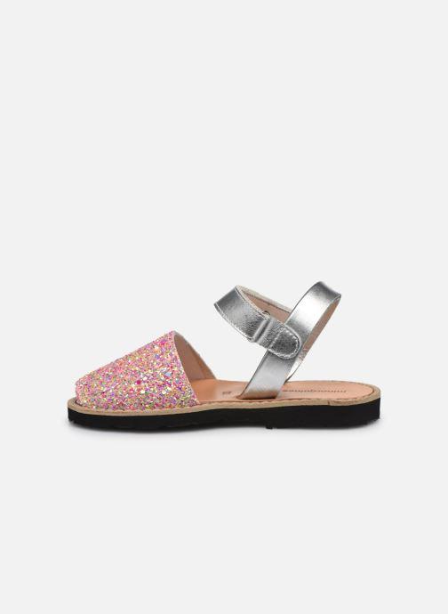 Sandalias MINORQUINES Avarca Velcro Multicolor vista de frente
