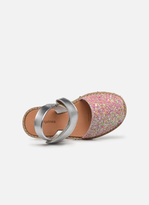 Sandalias MINORQUINES Avarca Velcro Multicolor vista lateral izquierda