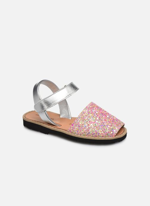 Sandalias MINORQUINES Avarca Velcro Multicolor vista de detalle / par
