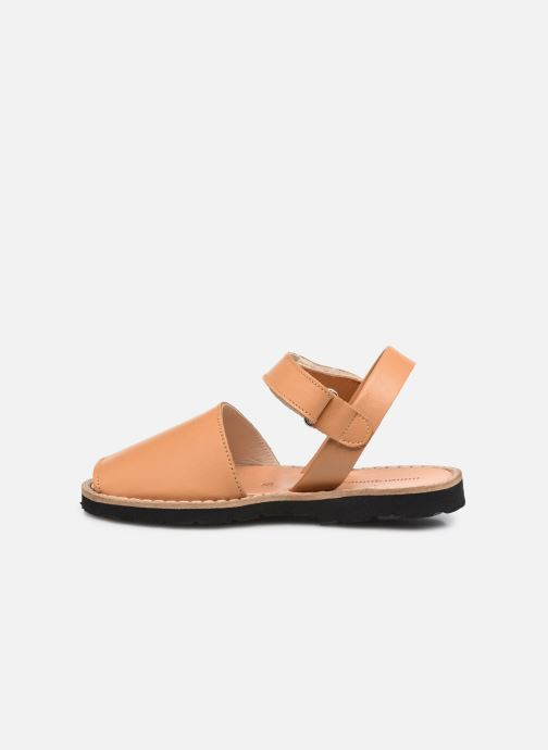 Sandali e scarpe aperte Minorquines Avarca Velcro Marrone immagine frontale