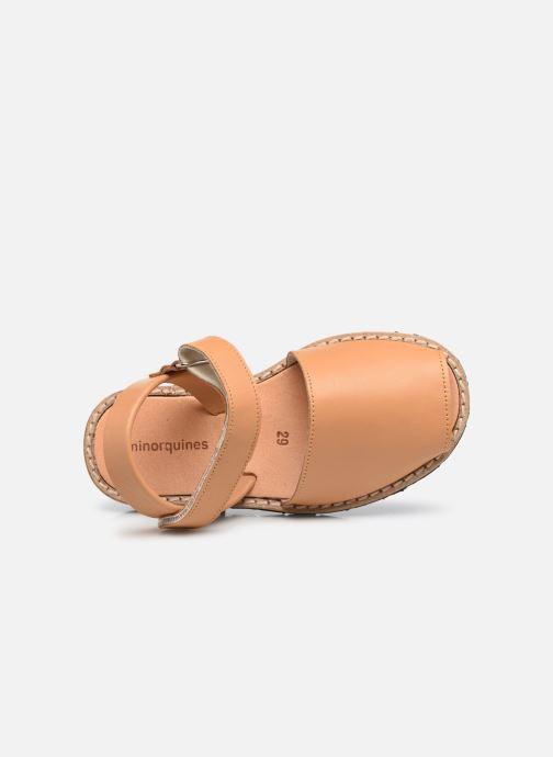 Sandali e scarpe aperte Minorquines Avarca Velcro Marrone immagine sinistra