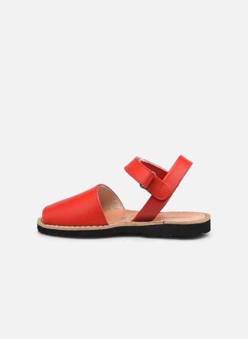 Sandali e scarpe aperte Minorquines Avarca Velcro Rosso immagine frontale