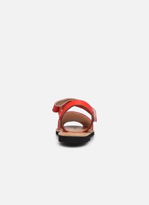 Sandali e scarpe aperte Minorquines Avarca Velcro Rosso immagine destra