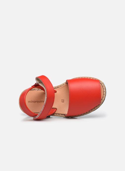 Sandali e scarpe aperte Minorquines Avarca Velcro Rosso immagine sinistra
