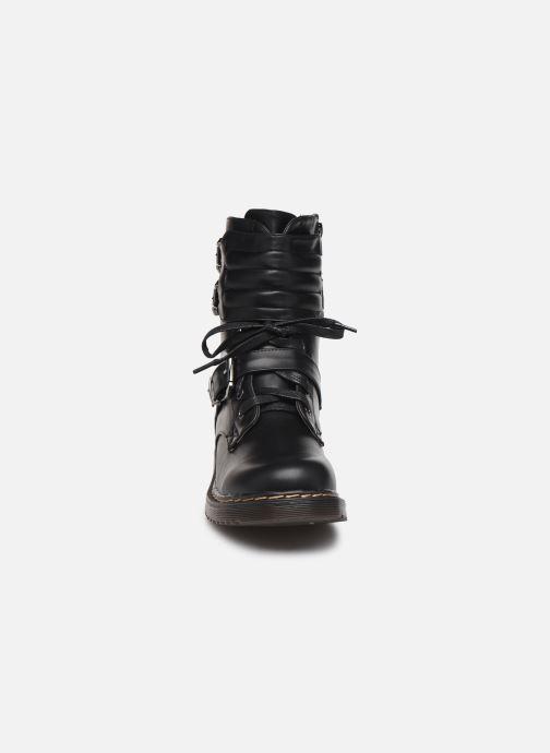 Bottines et boots Initiale Paris Pseudo Noir vue portées chaussures