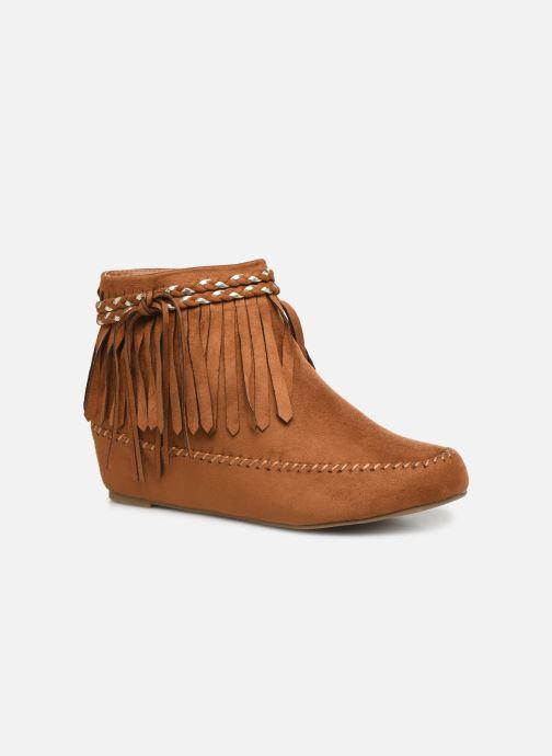 Ankelstøvler Initiale Paris Siberien Brun detaljeret billede af skoene