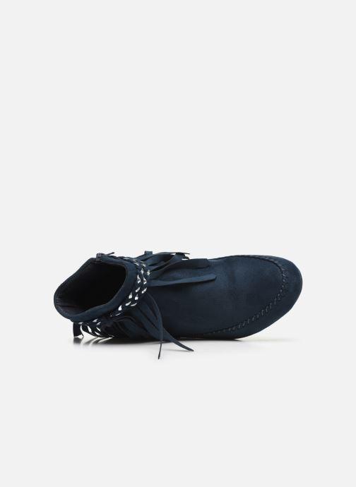 Bottines et boots Initiale Paris Siberien Bleu vue gauche