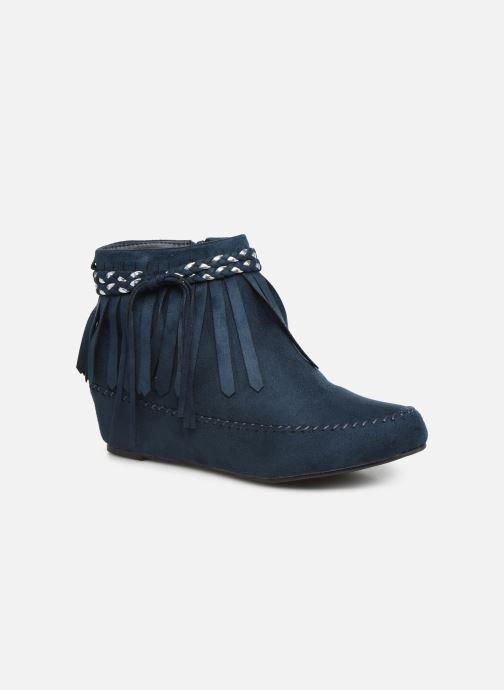 Ankelstøvler Initiale Paris Siberien Blå detaljeret billede af skoene