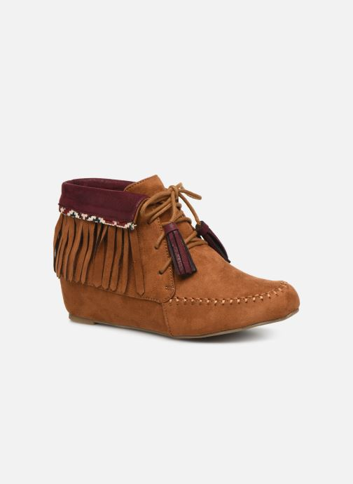 Ankle boots Initiale Paris Silene Brown detailed view/ Pair view