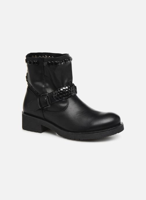 Ankelstøvler Initiale Paris Tenice Sort detaljeret billede af skoene