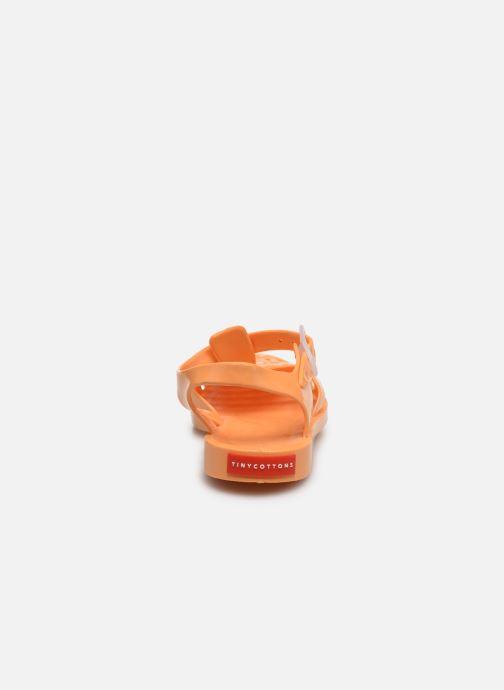 Sandalias Tinycottons Jelly Sandals Naranja vista lateral derecha