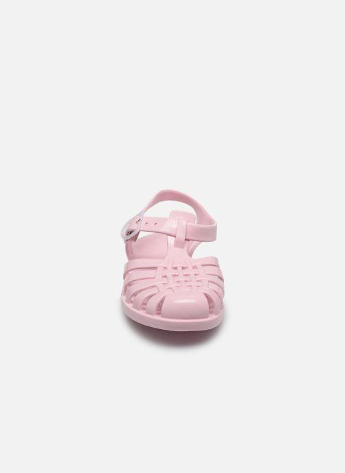 Sandali e scarpe aperte Tinycottons Jelly Sandals Rosa modello indossato