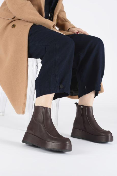 Bottines et boots Camper Wilma K400129 Bordeaux vue bas / vue portée sac