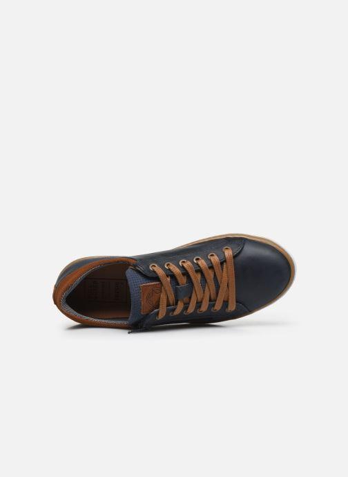 Sneaker Bullboxer Baskets-AHM024E5L_DKBLKB40 blau ansicht von links