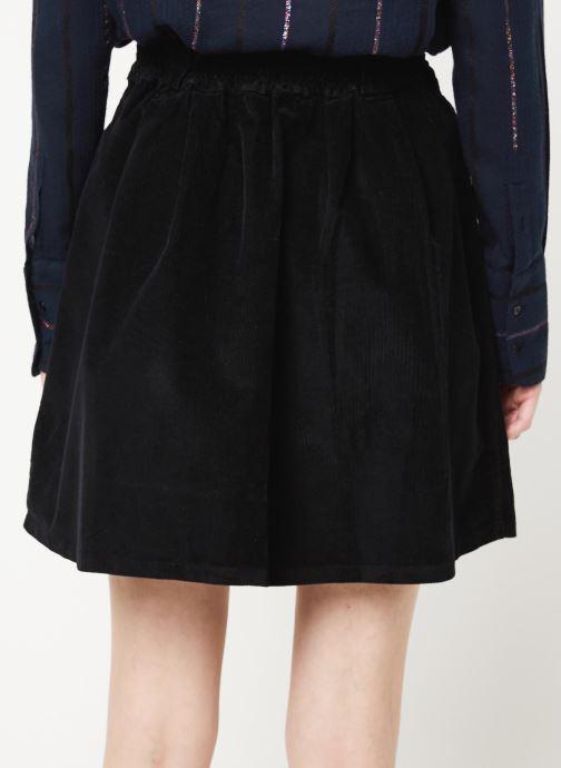 Kleding Cuisse de Grenouille SKIRT - BUTTONED VELVET SKIRT Zwart model
