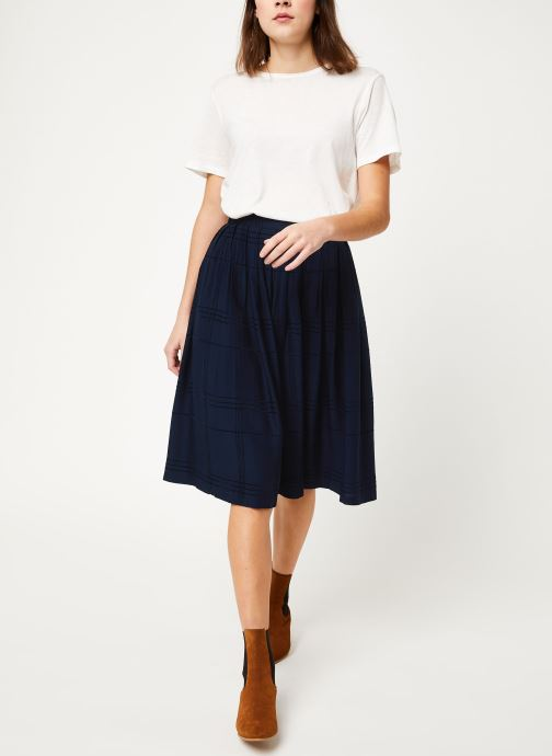 Vêtements Cuisse de Grenouille SKIRT - PLEATED LONG SKIRT Bleu vue bas / vue portée sac