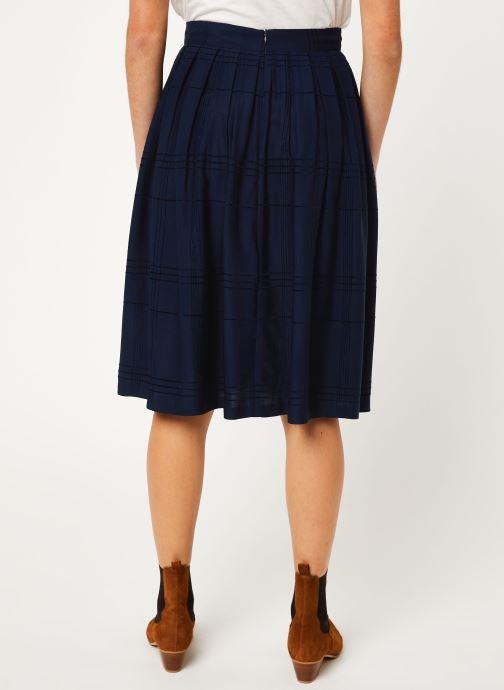 Vêtements Cuisse de Grenouille SKIRT - PLEATED LONG SKIRT Bleu vue portées chaussures