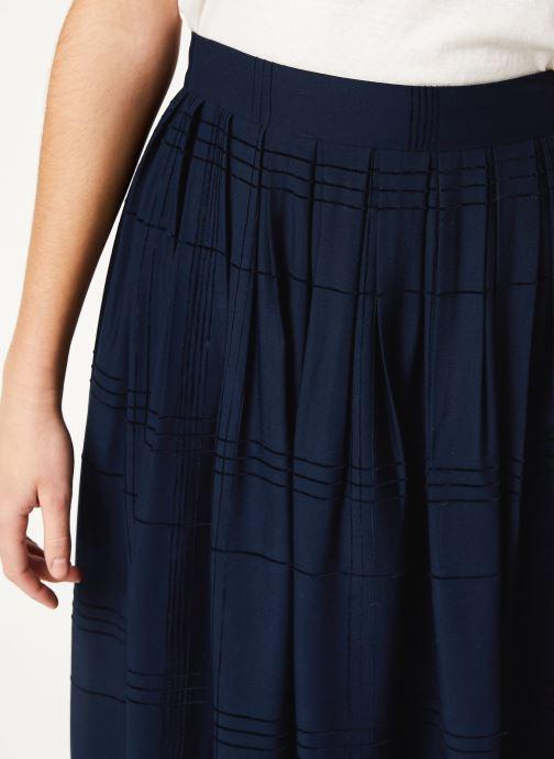 Vêtements Cuisse de Grenouille SKIRT - PLEATED LONG SKIRT Bleu vue face