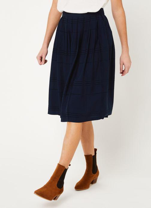 Vêtements Cuisse de Grenouille SKIRT - PLEATED LONG SKIRT Bleu vue détail/paire
