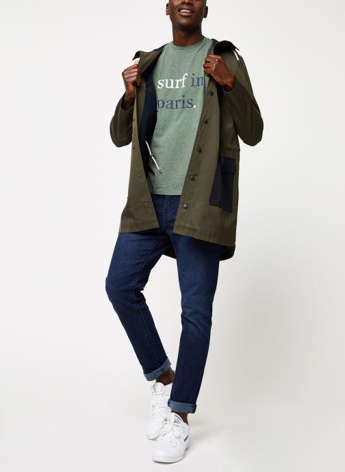 Vêtements Cuisse de Grenouille OUTERWEAR - THIN PARKA Vert vue bas / vue portée sac