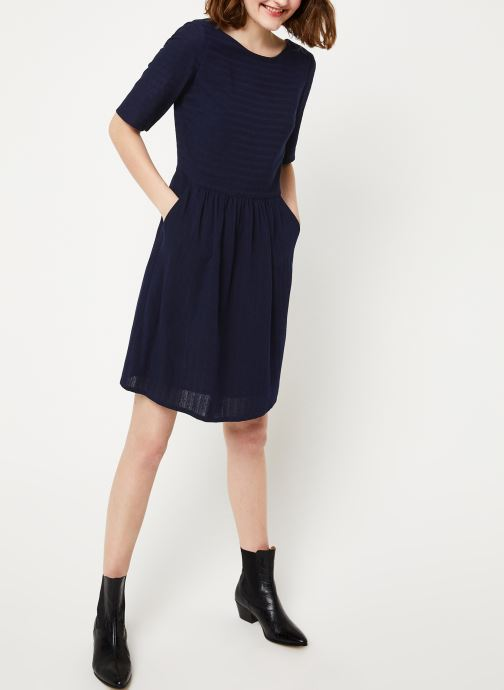 Vêtements Cuisse de Grenouille DRESS - V NECK BACK DRESS Bleu vue bas / vue portée sac