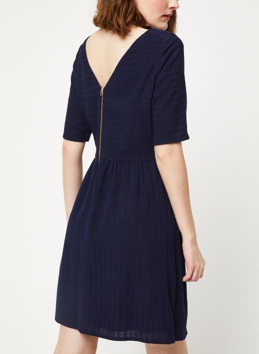 Vêtements Cuisse de Grenouille DRESS - V NECK BACK DRESS Bleu vue portées chaussures