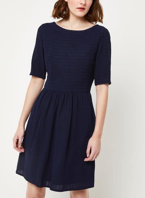 Vêtements Cuisse de Grenouille DRESS - V NECK BACK DRESS Bleu vue droite
