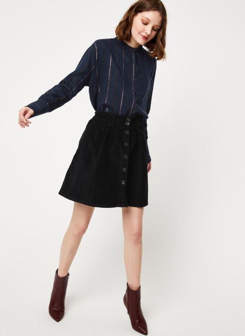 Vêtements Cuisse de Grenouille SHIRT - MAO + POCKET Bleu vue bas / vue portée sac