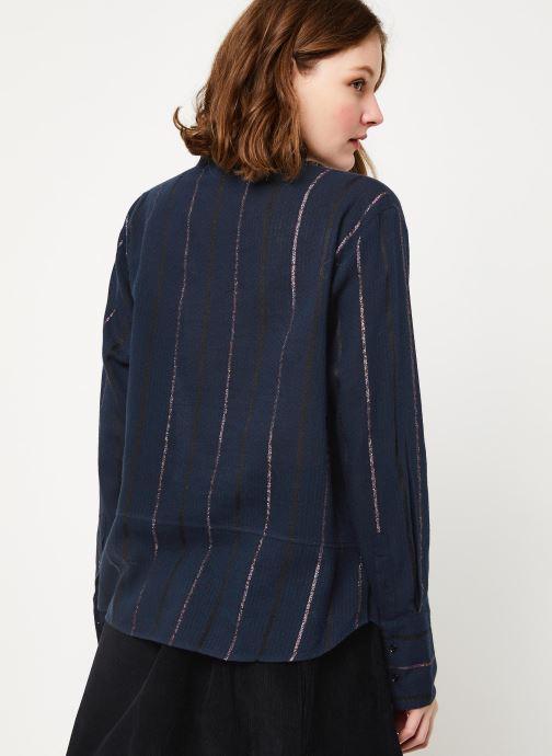 Vêtements Cuisse de Grenouille SHIRT - MAO + POCKET Bleu vue portées chaussures