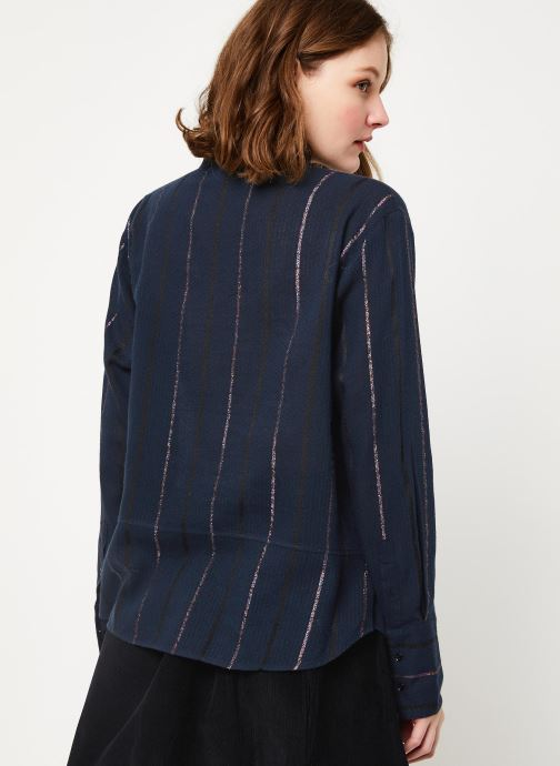 Kleding Cuisse de Grenouille SHIRT - MAO + POCKET Blauw model