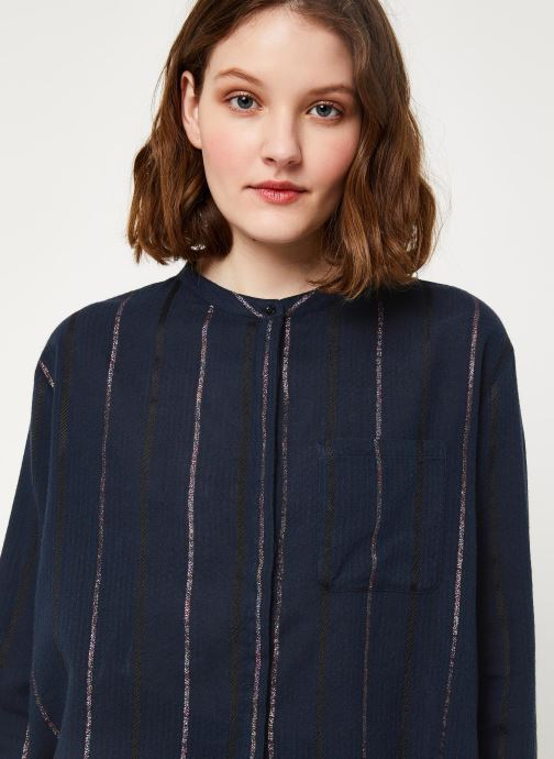 Vêtements Cuisse de Grenouille SHIRT - MAO + POCKET Bleu vue face
