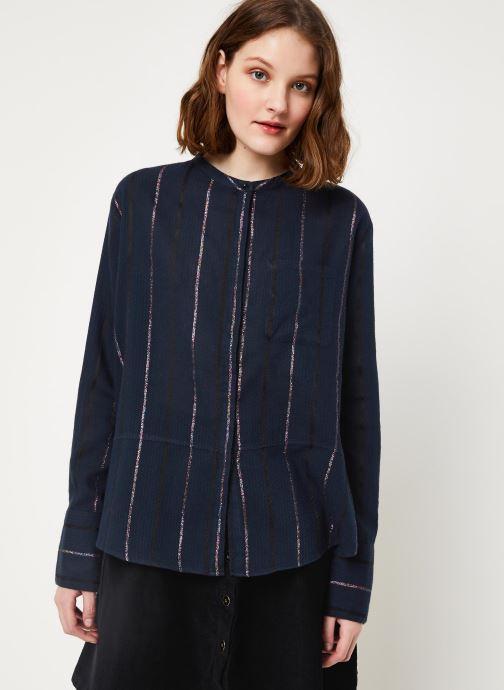 Vêtements Cuisse de Grenouille SHIRT - MAO + POCKET Bleu vue droite