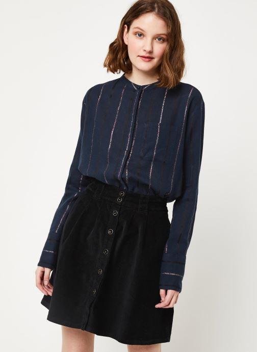 Vêtements Cuisse de Grenouille SHIRT - MAO + POCKET Bleu vue détail/paire