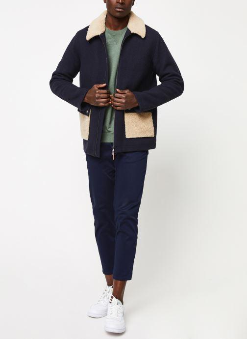Vêtements Cuisse de Grenouille OUTERWEAR - ZIP COAT Bleu vue bas / vue portée sac