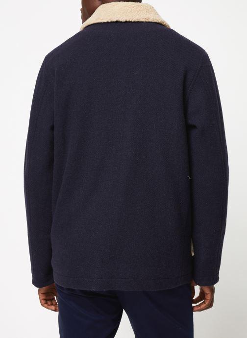 Vêtements Cuisse de Grenouille OUTERWEAR - ZIP COAT Bleu vue portées chaussures