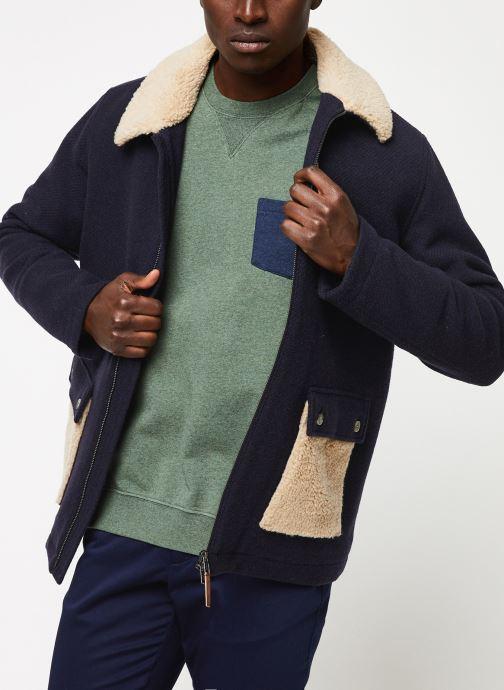 Vêtements Cuisse de Grenouille OUTERWEAR - ZIP COAT Bleu vue droite