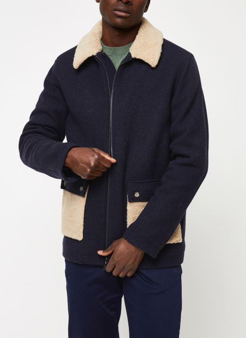 Vêtements Cuisse de Grenouille OUTERWEAR - ZIP COAT Bleu vue détail/paire