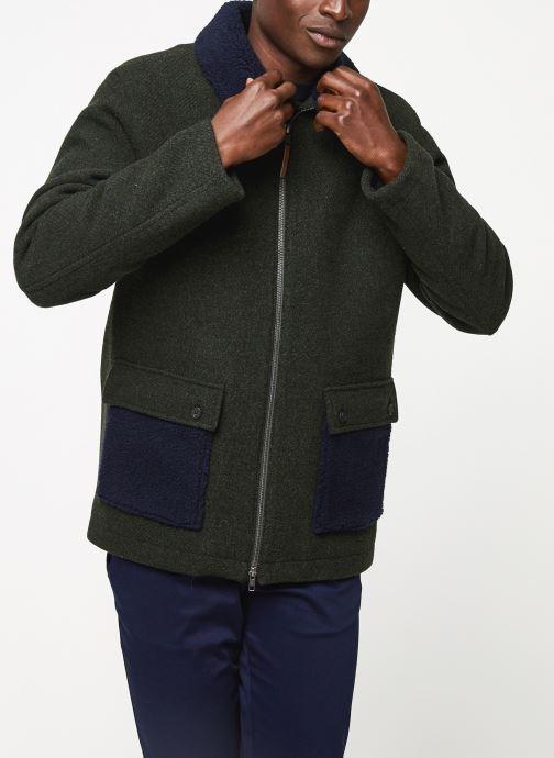 Vêtements Cuisse de Grenouille OUTERWEAR - ZIP COAT Vert vue droite