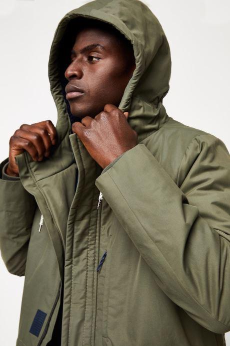 Vêtements Cuisse de Grenouille OUTERWEAR - PARKA 2 Vert vue face