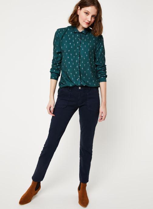 Vêtements Cuisse de Grenouille SHIRT - DOUBLE COLLAR Vert vue bas / vue portée sac